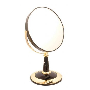 Зеркало b7 809 blk/g black&gold наст. кругл. 2-стор. 5-кр.ув