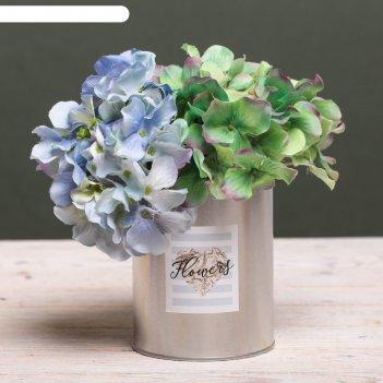 Металлическое кашпо для цветов flowers, 10 х 12,5 см