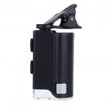Микроскоп карманный kromatech 60-100x мини, с креплением для смартфона, по