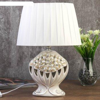 Лампа настольная 7555108tl/1 e14 40вт белый 18,5х28х38,5 см