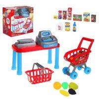 Игровой набор супермаркет: касса, тележка, аксессуары