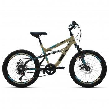 Велосипед 20 altair mtb fs disc, 2020, цвет бежевый/черный, размер 14