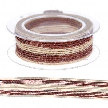 Тесьма текстиль полоски ширина 2 см намотка 1 метр микс