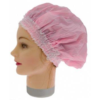 Шапочка для душа с эластичной лентой розовая