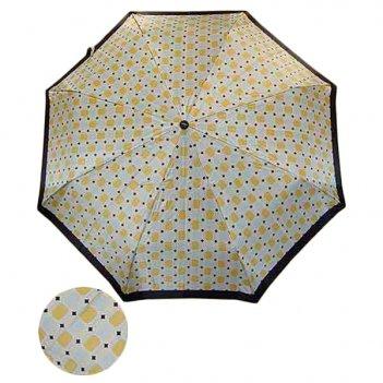 Зонт 23,  полный автомат, атласный (бежево-голубая мозаика...