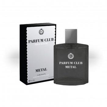 Туалетная вода мужская parfum club metal, 100 мл
