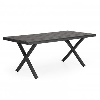 Стол brafab leone black 200, садовая мебель