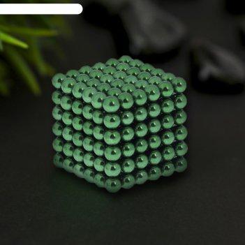 Антистресс магнит неокуб 216 шариков d=0,5 см (зелёный)