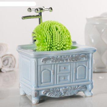 Дозатор для моющего средства с подставкой для губки будуар, цвет микс