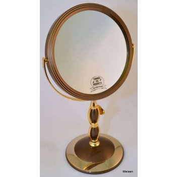 Зеркало b7 8066 brz/g bronze&gold наст. кругл. 2-стор. 5-кр.