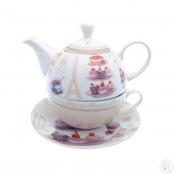 Набор чайник с крышкой + чашка + блюдце royal classics 3 предмета