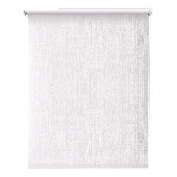 Рулонная штора «кембридж», 40х175 см, цвет белый