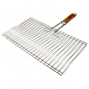 Решетка гриль для рыбы двойная нерж. сталь, размер 450*250