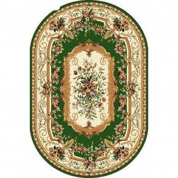 Овальный ковёр laguna 5439, 180x250 см, цвет green