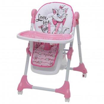 Стульчик для кормления polini kids disney baby 470  «кошка мари», цвет роз