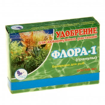 Удобрения для аквариумных растений флора-1 состав №1, гранулы, 100гр.