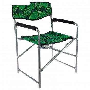 Кресло складное,  490х550х820 мм, тропические листья кс3/2