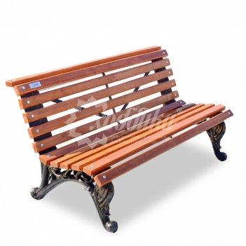 Скамейка чугунная парковая «отдых» 2,0 м (три опоры)