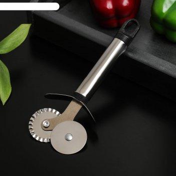 Нож для пиццы и теста помощник 18 см, двойной