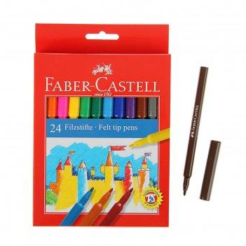 Фломастеры 24 цвета faber-castell замок 5542