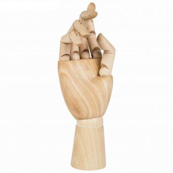 Деревянная фигура анатомические детали: рука правая женская, высота 25 см