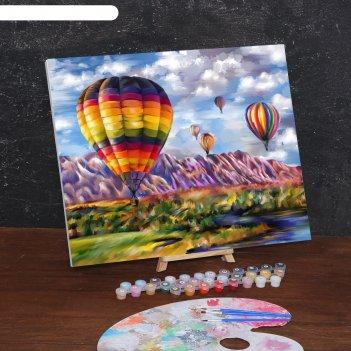 Картина по номерам на холсте с подрамником воздушные шары 40*50 см