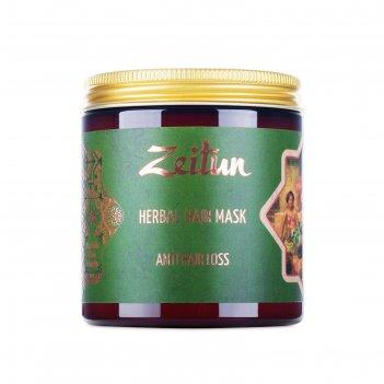 Травяная маска для волос zeitun «против выпадения волос» с грязью мертвого
