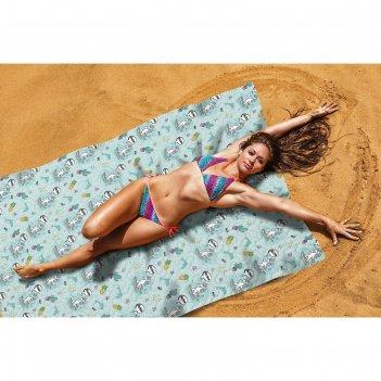 Пляжное покрывало «по морям», размер 145 x 200 см