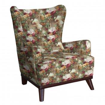 Кресло оскар, велюр яркие цветы