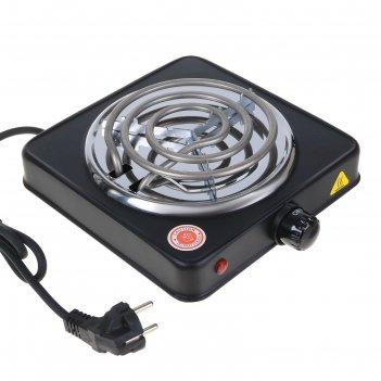 Плитка электрическая sakura пэ-02в, 1000 вт, 1 конфорка, спираль, черная