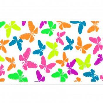Слайдер-дизайн для ногтей бабочки, неоновый, цвета микс