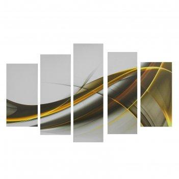 Модульная картина на подрамнике 3d: линии, 80x140 см