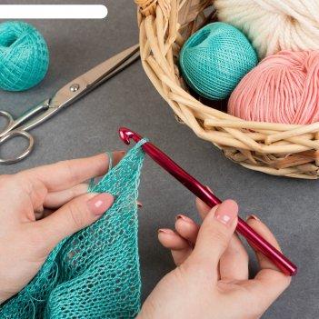 Крючок для вязания, d = 9 мм, 15 см, цвет микс