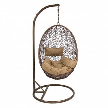 Подвесное кресло leset sails brоwn ми, каркас коричневый, подушка коричнев