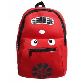 Рюкзак дет авто, 22*8*33, отдел на молнии, нар карман, красный