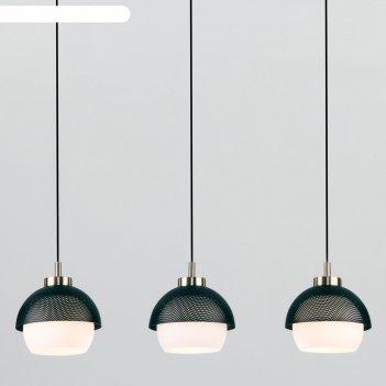 Светильник nocciola, 3x60вт e27, цвет чёрный