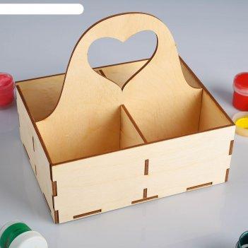 Заготовка для декупажа коробочка для чайных пакетиков с ручкой 15 х 20 см