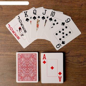 Игральные карты golem для покера, 54 шт. в колоде, красная рубашка, jumbo