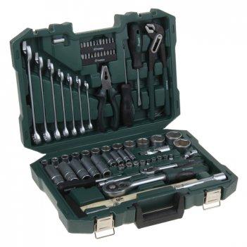 Набор инструмента tundra premium универсальный в кейсе 74 предмета