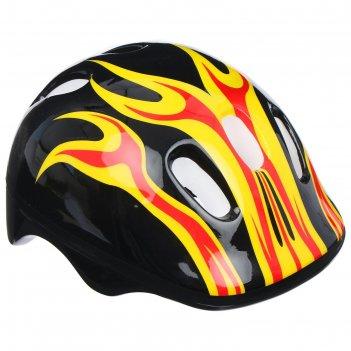 Шлем защитный детский ot-h6, размер m (55-58 см), цвет: черный