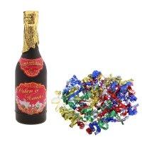 Хлопушка пружинная шампанское совет да любовь! серпантин, фольга