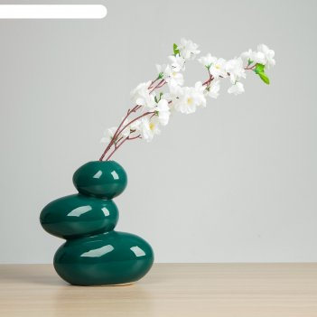 Ваза сбалансированные камни зелёный