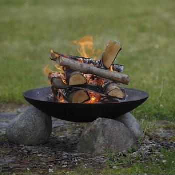 Чугунная чаша для огня без основания concretika iron a 60, уличное оборудо