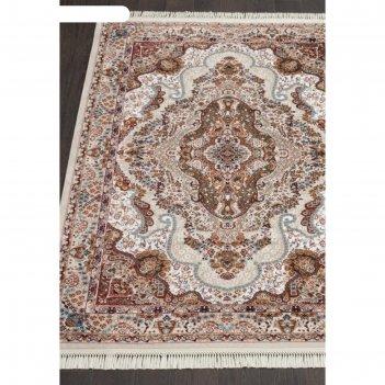 Прямоугольный ковёр isfahan d515, 120x170 см, цвет cream