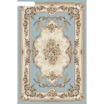 Прямоугольный ковёр valencia deluxe 4015, 150x230 см, цвет l.blue-brown