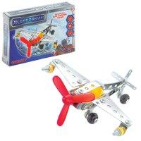 Конструктор металлический самолет, 74 детали