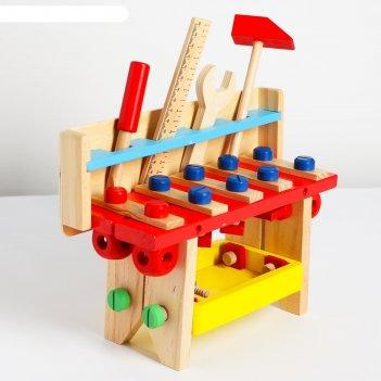 Игровой набор столярная мастерская 28х10х28 см