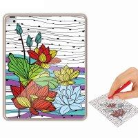 Раскраска-чехол для планшета цветочные узоры