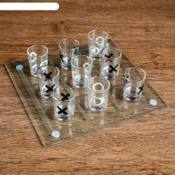 Пьяная игра крестики-нолики: 9 стопок, доска 20x20 см