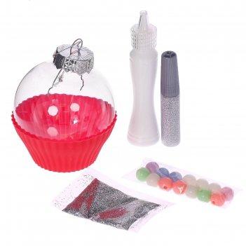 Набор для опытов ёлочные украшения милые пирожные, микс, в пакете